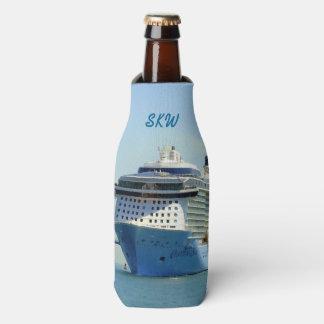 Quantum Comes Calling Monogrammed Bottle Cooler