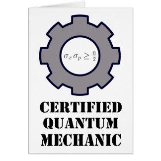 quantum mechanic, uncertainty principle greeting card