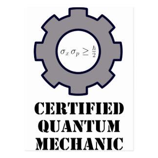 quantum mechanic, uncertainty principle post card