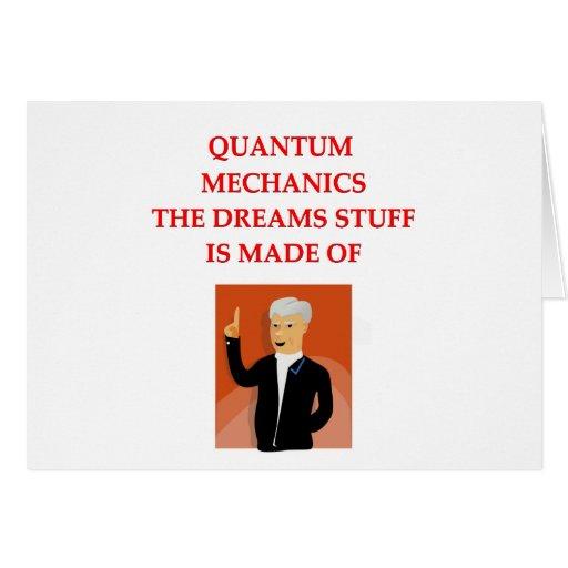 quantum mechanics greeting cards