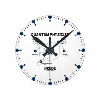 Quantum Physicist Inside (Higgs Field Higgs Boson) Wallclocks