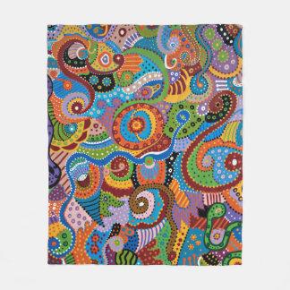 Quantum Strands Fleece Blanket