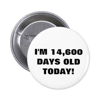 quarantième Bouton d anniversaire Badges