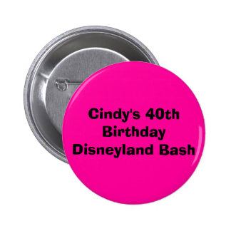 Quarantième coup de Disneyland de l'anniversaire d Macaron Rond 5 Cm
