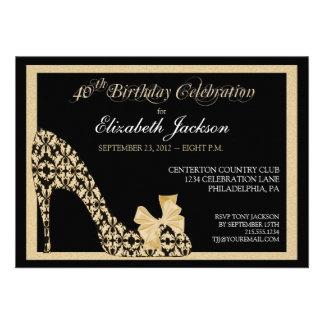 Quarantième invitation élégante de chaussure de da
