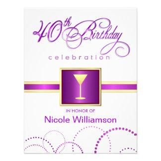 quarantième Invitations de fête d anniversaire - a