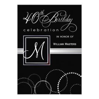 quarantième Invitations de fête d'anniversaire - a
