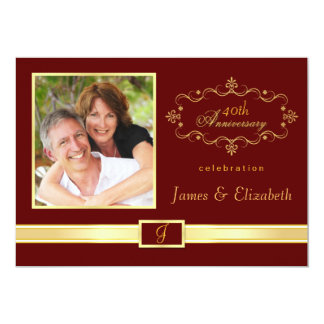 Quarantième invitations personnalisées de fête