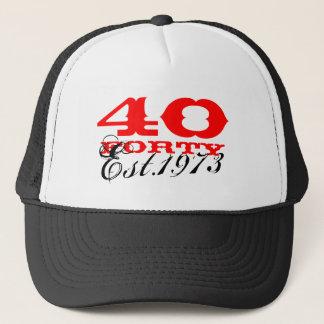 quarantième Le casquette vintage   d'anniversaire