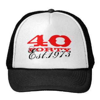 quarantième Le chapeau vintage | d'anniversaire a  Casquette