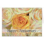 Quarantième roses heureux d'anniversaire carte de vœux