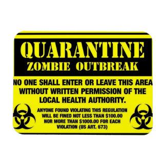 quarantine rectangular photo magnet