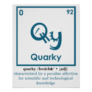 Quarky Definition Poster
