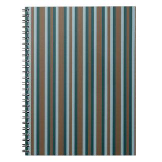 Quarry Teal Mod Alternating Stripes Notebooks