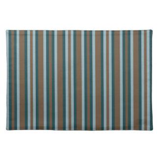 Quarry Teal Mod Alternating Stripes Placemat