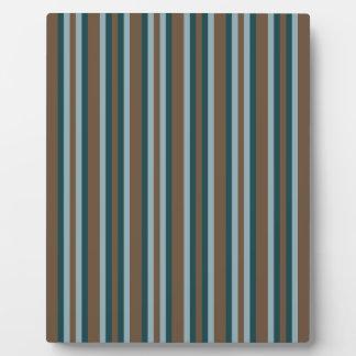 Quarry Teal Mod Alternating Stripes Plaque