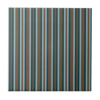 Quarry Teal Mod Alternating Stripes Tile