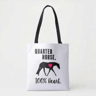 Quarter Horse, 100% Heart - Hunt Seat Tote Bag