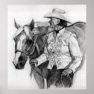Quarter Horse Amateur Showmanship Show Portrait Poster