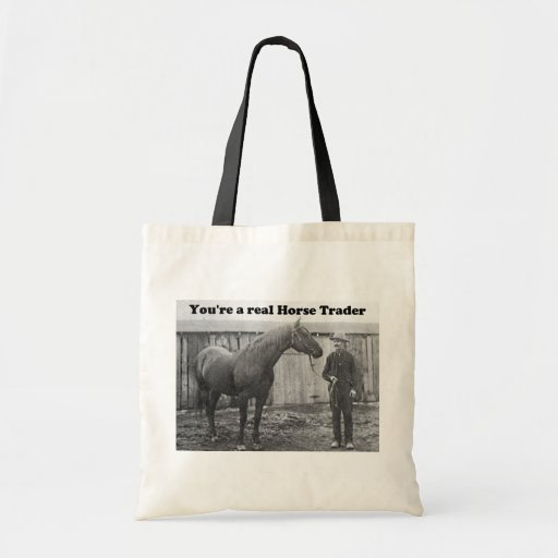Quarter Horse and Horse Trader Vintage Photo Bag