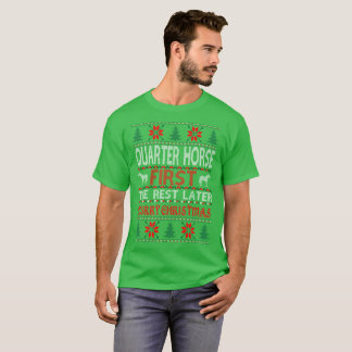 Quarter Horse First Christmas Ugly Sweater Tshirt