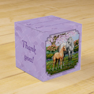 Quarter Horse Mare and Foal Purple Wedding Favor Boxes