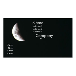 Quarter Moon Pack Of Standard Business Cards