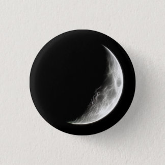 Quarter Moon Lunar Planet Globe 1 Inch Round Button