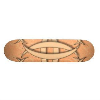 Quarter Moon Peach Pattern Custom Skate Board