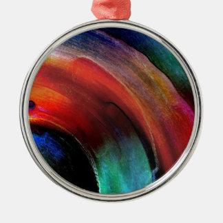 Quarter Round Colors Metal Ornament