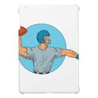 Quarterback QB Throwing Ball Motion Circle Drawing iPad Mini Cover
