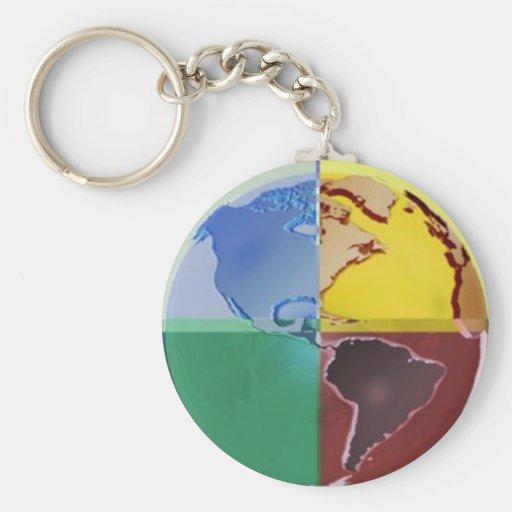 Quartered Globe - Key Chain