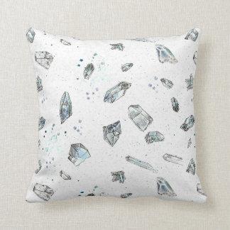 Quartz Crystals Rocks Geology Illustration Throw Pillow