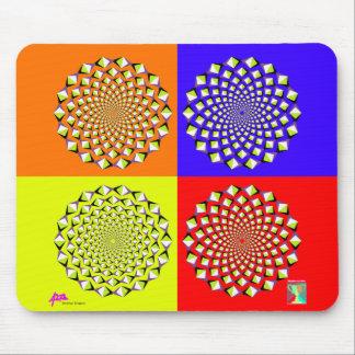 Quatre carrés Mousepad Tapis De Souris