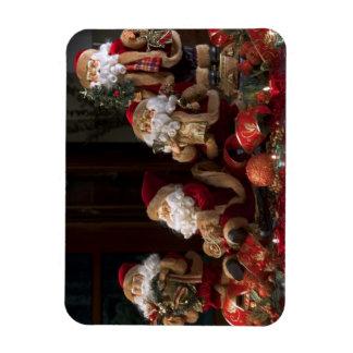 Quatre figurines de Père Noël Magnets En Rectangle