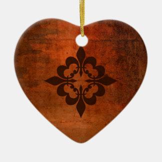 Quatre Fleur de Lis Ceramic Ornament