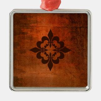 Quatre Fleur de Lis Metal Ornament