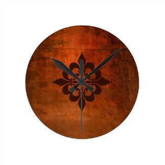 Quatre Fleur de Lis Round Clock