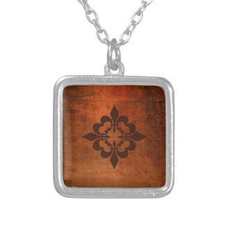 Quatre Fleur de Lis Silver Plated Necklace