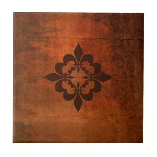 Quatre Fleur de Lis Tile