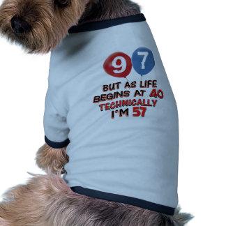 quatre-vingt-dix-septième conceptions t-shirt pour animal domestique