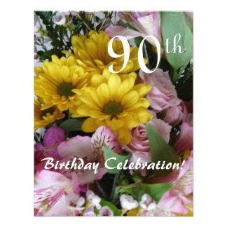quatre-vingt-dixième Célébration d anniversaire Cartons D'invitation