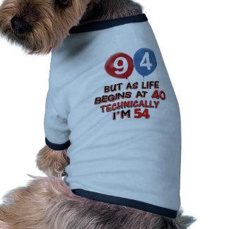quatre-vingt-quatorzième conceptions t-shirts pour chien