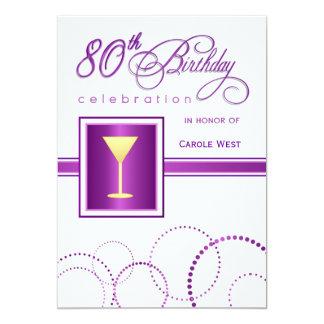 quatre-vingtième Invitations de fête
