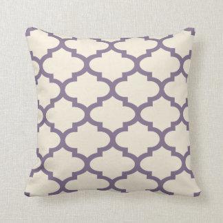 Quatrefoil Aubergine Inverted Throw Pillow