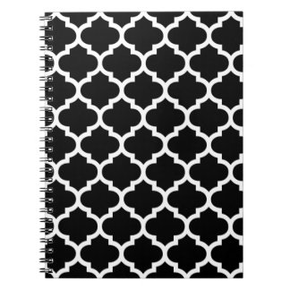 Quatrefoil Black and White Notepad Notebooks