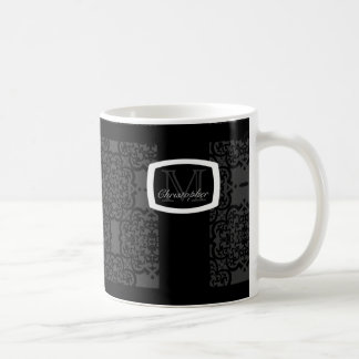 Quatrefoil Damask Coffee Mug
