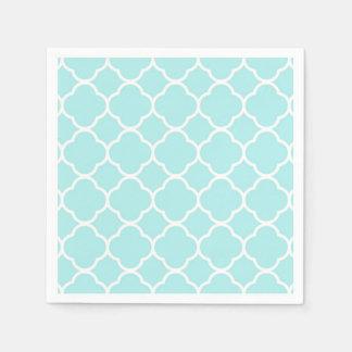 Quatrefoil geometric modern elegant blue napkin