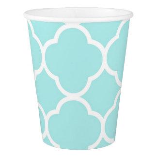 Quatrefoil geometric modern elegant paper cup