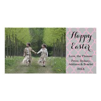 Quatrefoil Happy Easter Photo Card